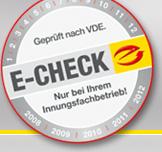 E-Check Prüfsiegel, Elektro Bücker