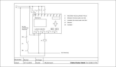 Zeichnung mit CAD, Elektro Bücker